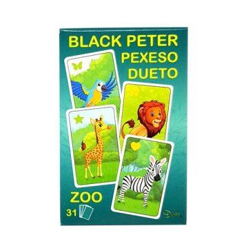 hra čierny peter 3v1 zoo