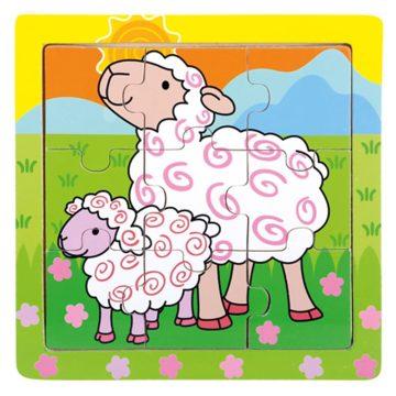 Drevené puzzle ovečky