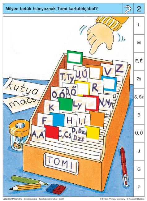 Betűfogócska Tedd ábécérendbe!
