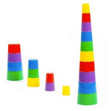 Skladacia pyramída dúha