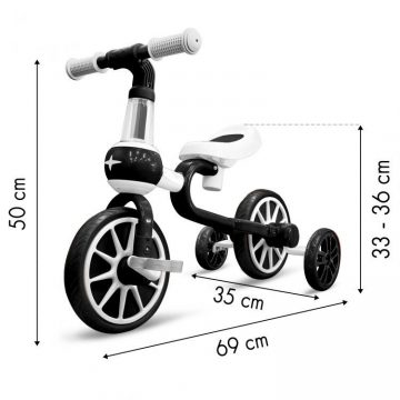 Detský bicykel a odrážadlo s pomocnými kolieskami