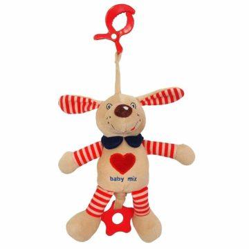 Plyšová hračka s vibráciou Baby Mix psík červený